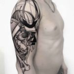 Skeleton Samurai Tattoo