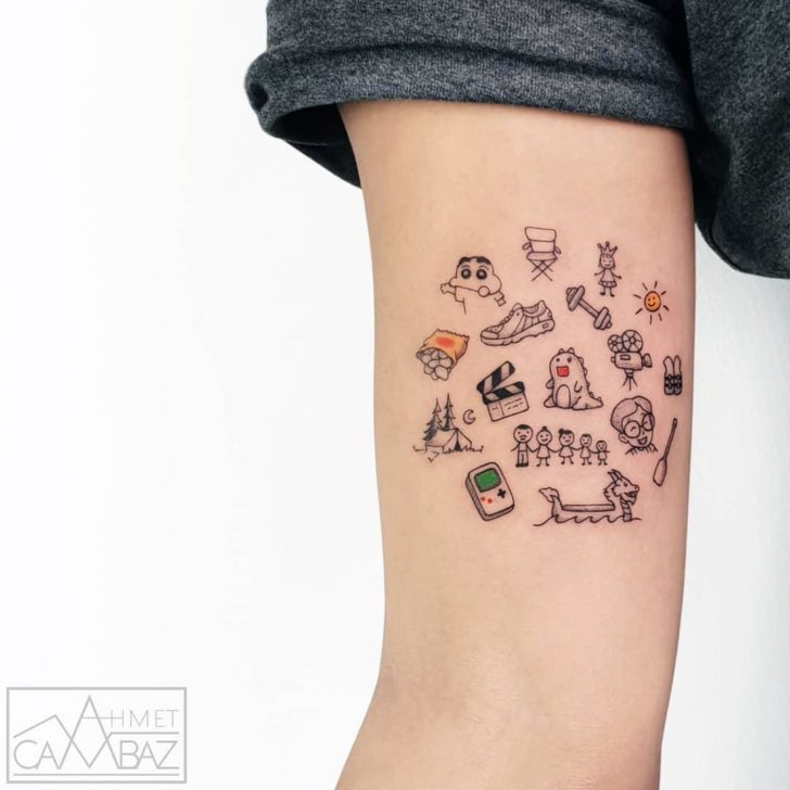 Small tattoo doddles best tattoo ideas gallery for Small cocktail tattoos