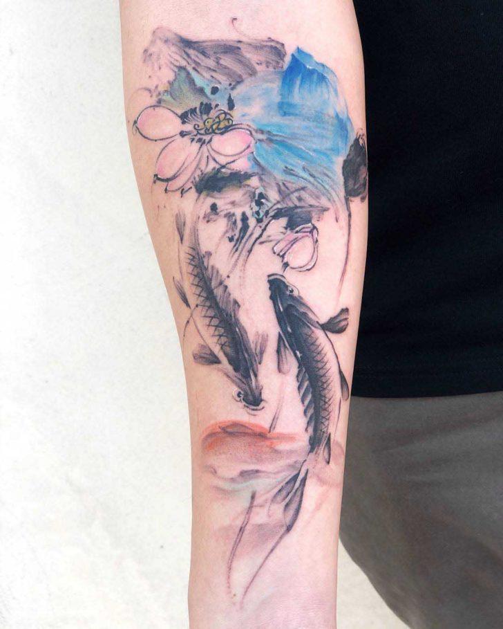 koi fish tattoo chinese