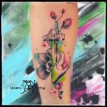 Wooden Anchor Tattoo