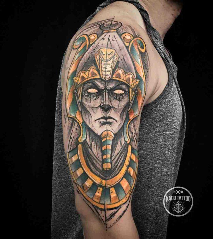 shoulder tattoo egyptian