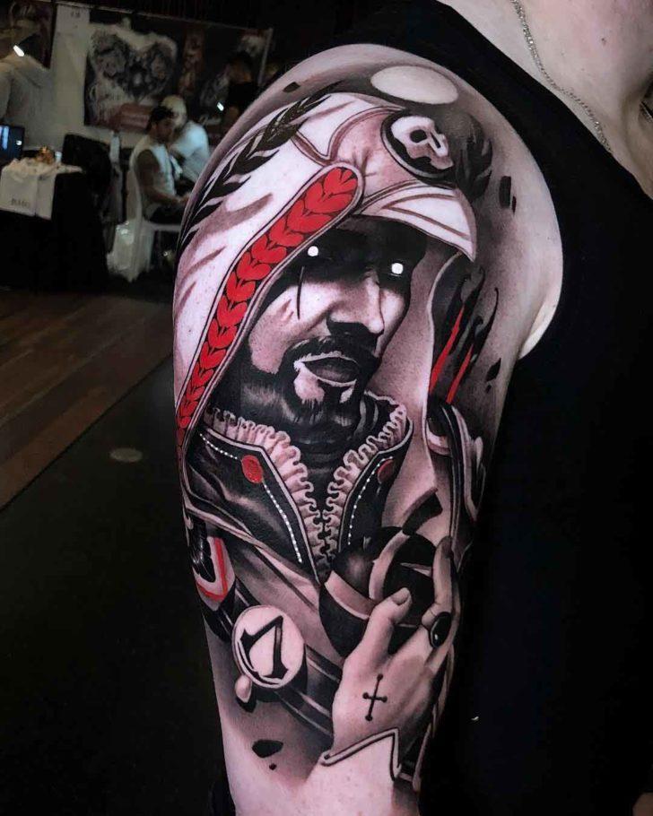 shoulder tattoo assassin's creed