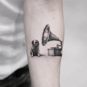 Classy Bulldog Tattoo