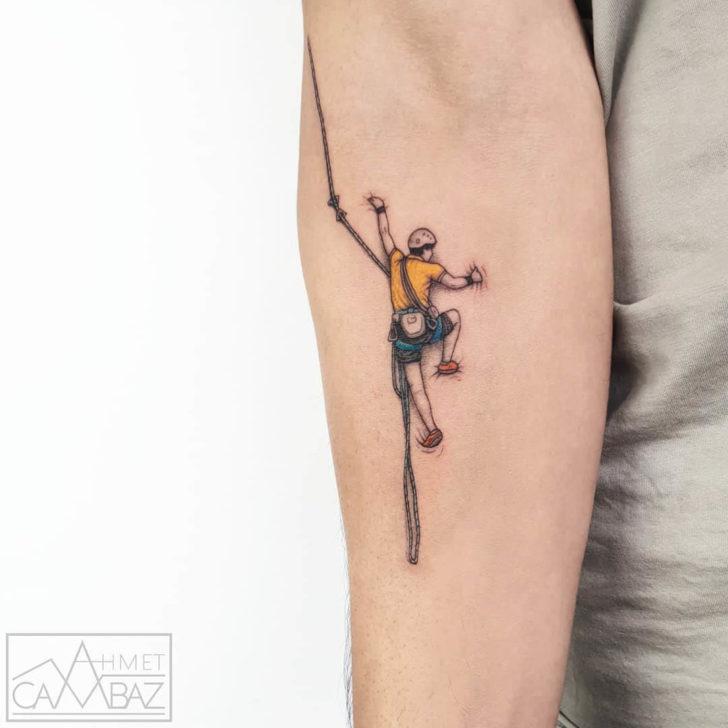 small climber tattoo