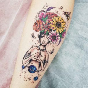 Cosmic Nature Tattoo