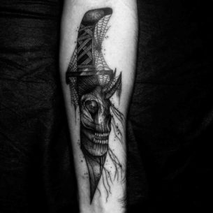 Evil Knife Tattoo