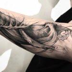 Forearm Whale Tattoo