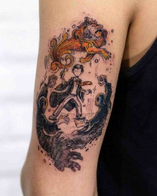 Harry Potter Tattoo Lion