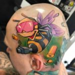 Machine Gun Bee Tattoo