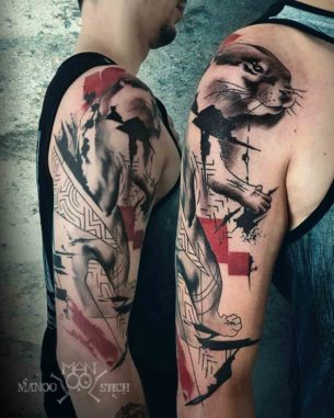 Otter Tattoo Trash Polka