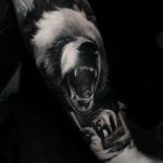 Realistic Bear Tattoo on Arm