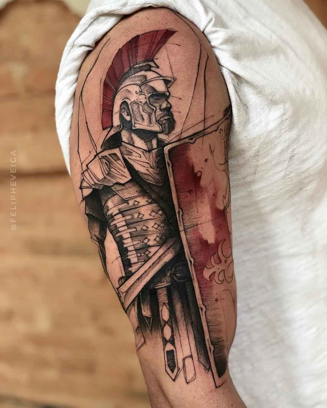 Roman Soldier Tattoo Best Tattoo Ideas Gallery