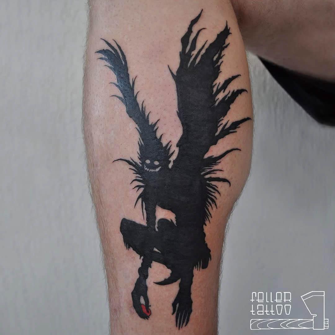black death note tattoo
