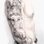 Shoulder Sleeve Tattoo Ganesha