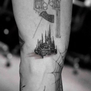 Small Castle Tattoo
