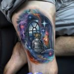 Space Window Tattoo