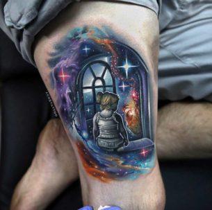 Space Window Tattoo