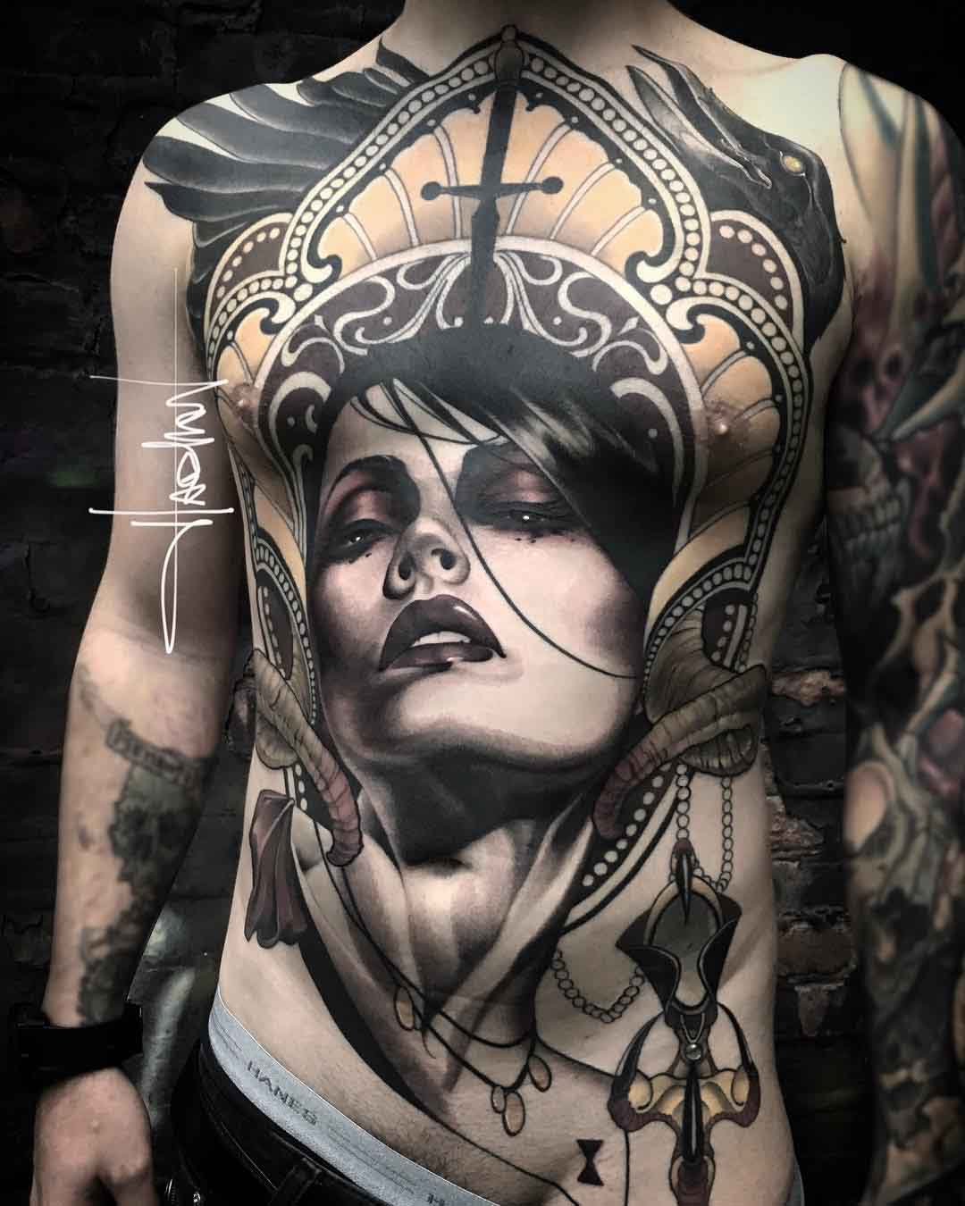 torso tattoo passion