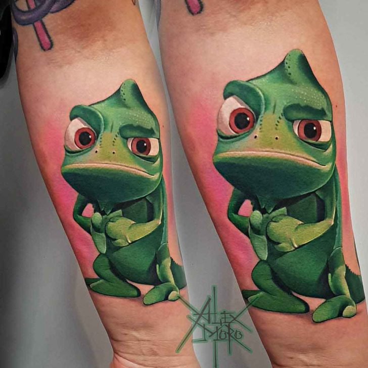 chameleon tattoo tangled Pascal