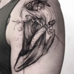Whale Tattoo on Shoulder