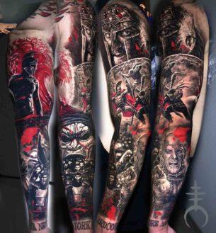 300 Tattoo Sleeve