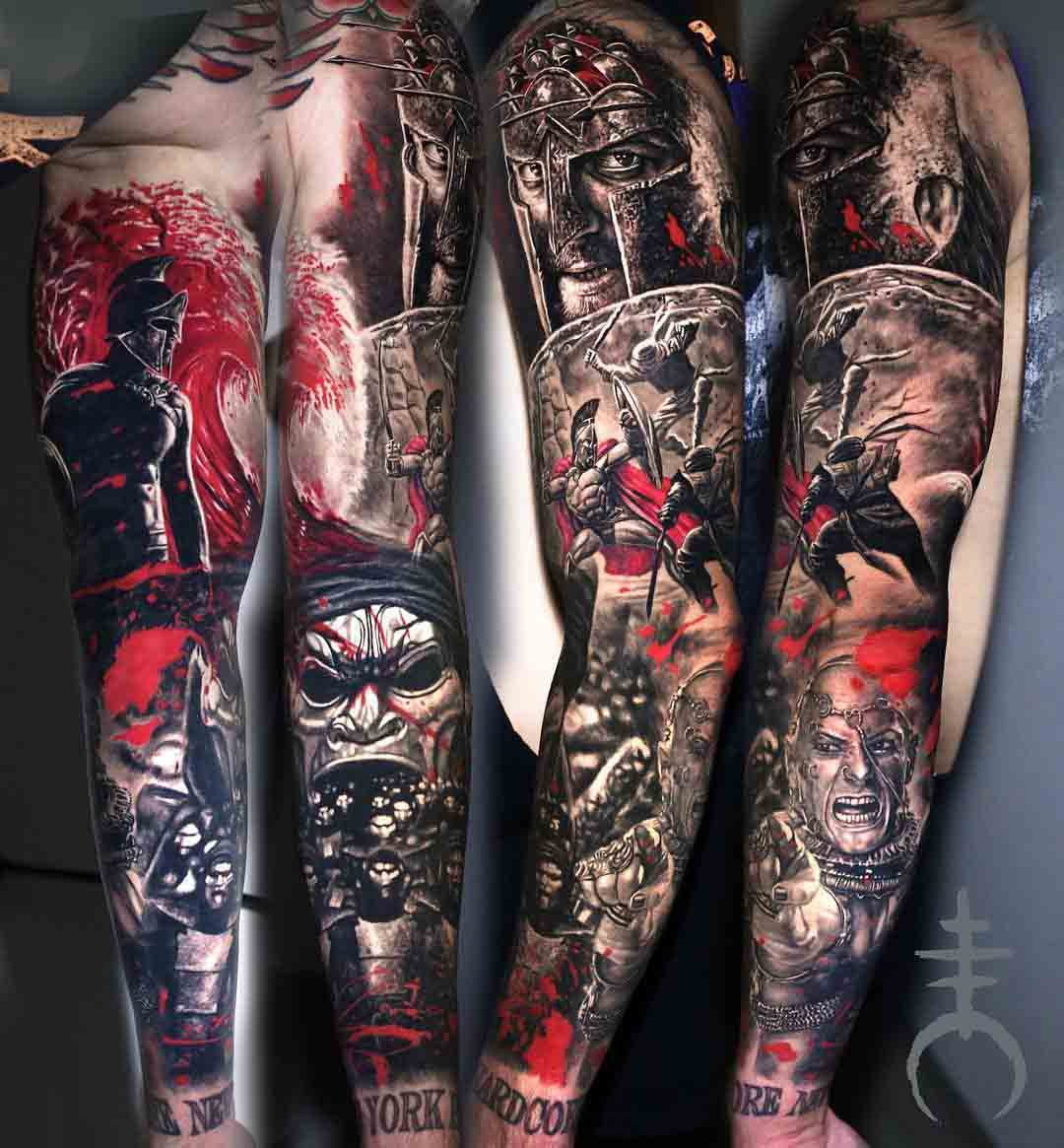 tattoo sleeve 300 Spartans