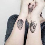 Brain and Heart Tattoos