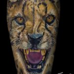 Cheetah Portrait Tattoo