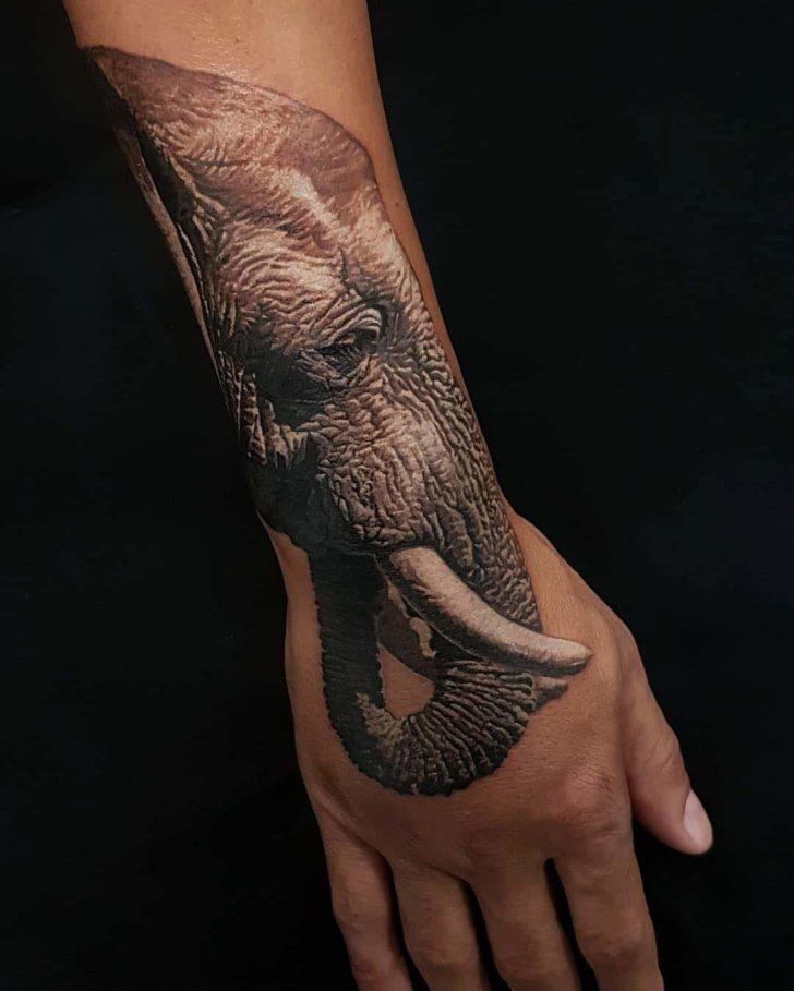 arm tattoo elephant