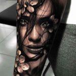 Floral Portrait Tattoo