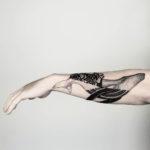 Black Whale Tattoo