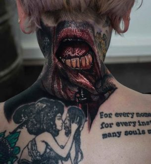 Horror Lips Tattoo