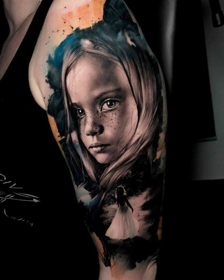 Girl Portrait tattoo