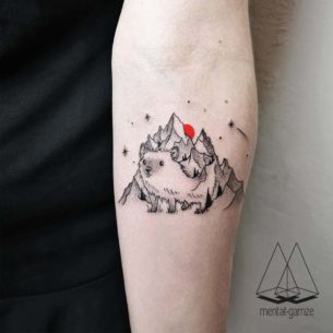 Mountain Hedgehog Tattoo