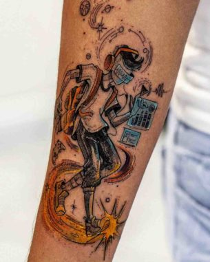 Music Technology Passion Tattoo