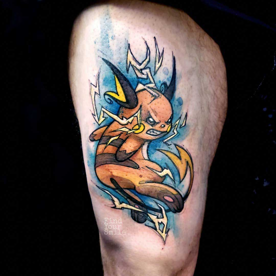 pokemon tattoo raichu