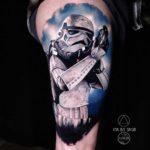Realistic Stormtrooper Tattoo