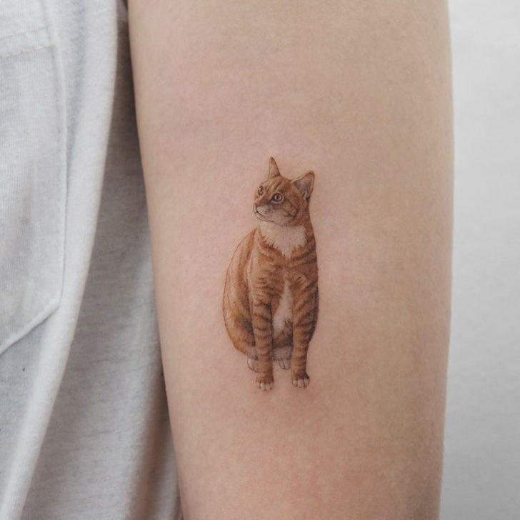 small cat tattoo