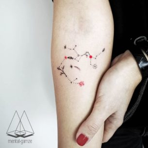 Sagittarius Constellation Tattoo
