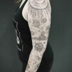 Simplistic Space Tattoo Sleeve