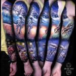 Space Walk Tattoo Sleeve
