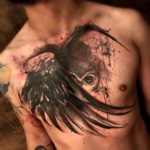 Stealth Owl Tattoo on Chest