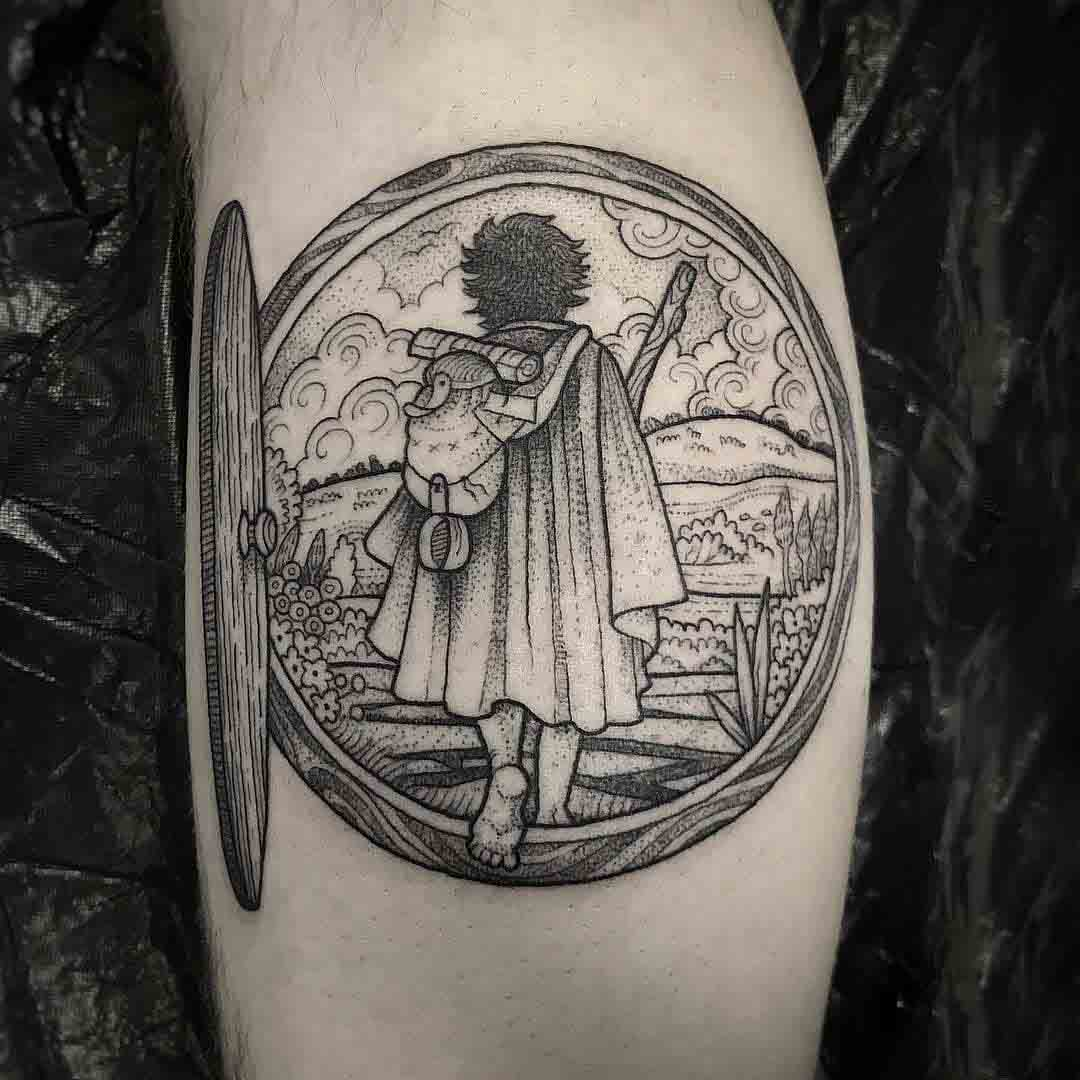 etching tattoo hobbit