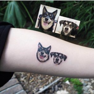Two Dogs Tattoo