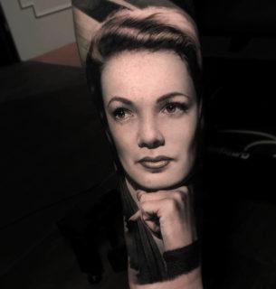 Vintage Portrait Tattoo