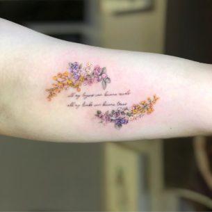 Written Romantic Tattoo