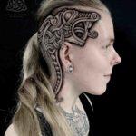 Celtic Knot Tattoo on Head