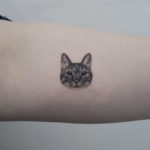 Detailed Cat Face Tattoo