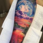 Giant Moon Tattoo Landscape