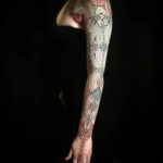 Girl Ornamental Tattoo Sleeve